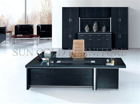 Modern Popular Office Furniture Black Wooden Executive Black Executive Office Desk