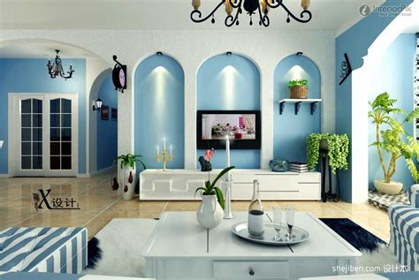 mediterranean design style blue mediterranean living room design with european style
