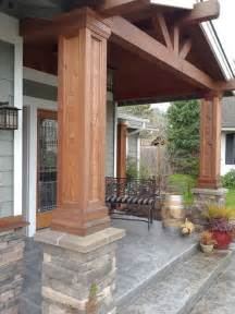 Patio Columns Design Decorative Cedar Columns Houzz
