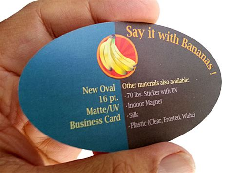 Oval Business Cards