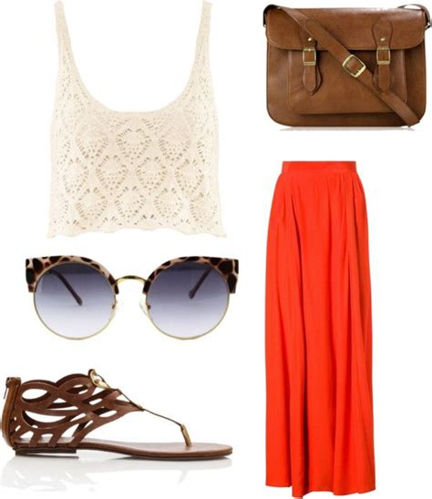 Sandal Wedges Flowy flowy maxi skirt cropped crochet top bohemian sandals vintage sunglasses leather