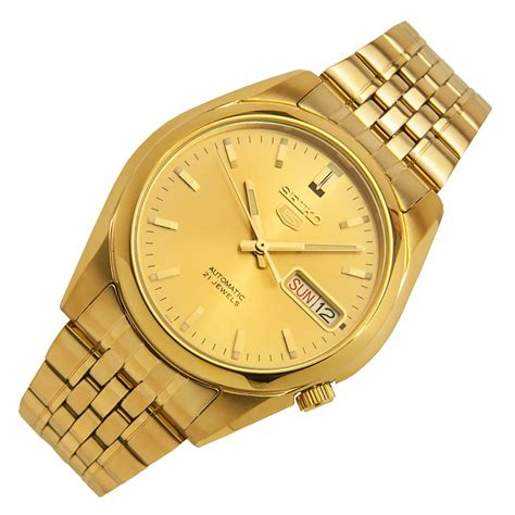seiko 5 gold plated mens casual snk366k1 snk366k snk366