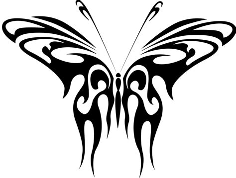 tato vektor kupu free vector graphic abstract animal black butterfly