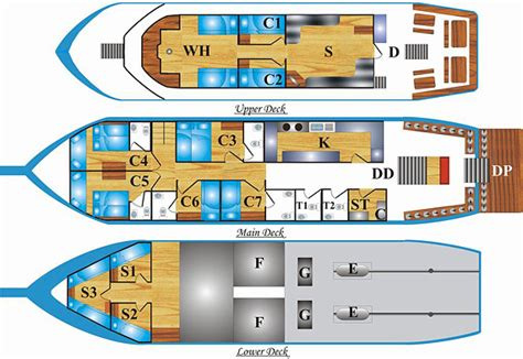 layout of a boat boat layout andaman trtan similan island liveaboard thailand