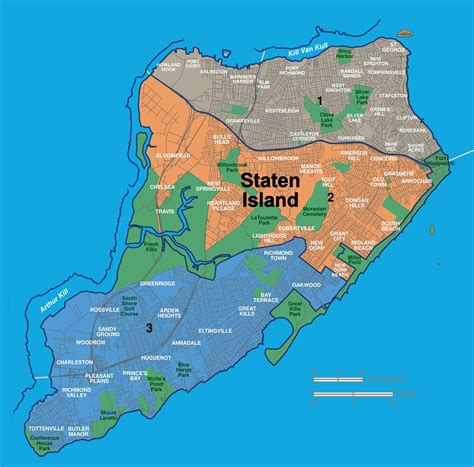 sections of staten island map of staten island neighborhoods
