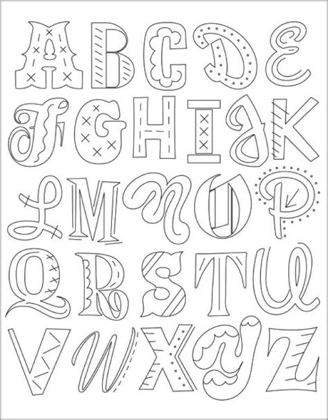 6 alphabet patterns for hand embroidery needle work