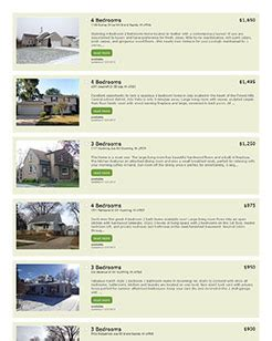 property listing website template custom apartment rental listings website integration