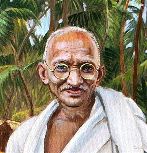 mahatma gandhi oil painting