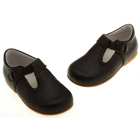 black baby shoes baby walker black shoes in leather t bar design