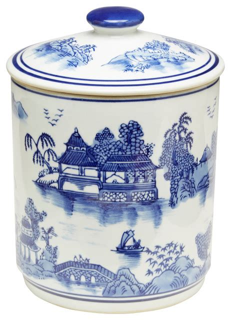 blue and white kitchen canisters blue and white jar with lid asian kitchen