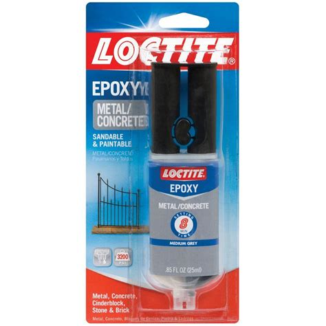 loctite 0 85 fl oz metal and concrete epoxy syringe