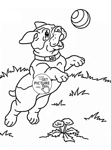 puppy playing coloring page cute puppy playing coloring page for kids animal coloring