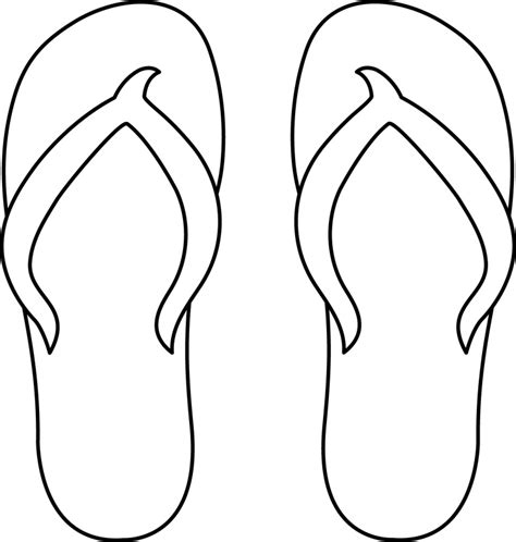flip flop template free flip flop coloring pages