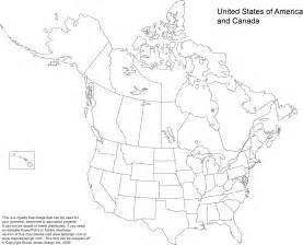 blank outline map of canada and united states