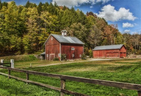 bauernhof mit scheune barn farm photograph by cathy kovarik