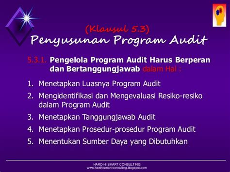 Management Audit Audit Manajemen Prosedur Dan Implementasi pelatihan quality audit