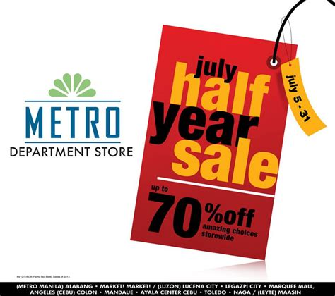 metro new year sale metro department store july half year sale july 2013