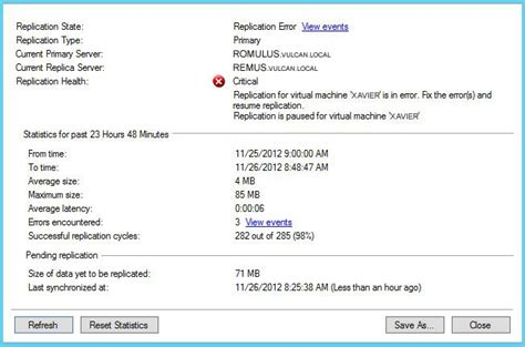 Hyper V Resumes by Hyper V Suspended Replication For Machine Due To A