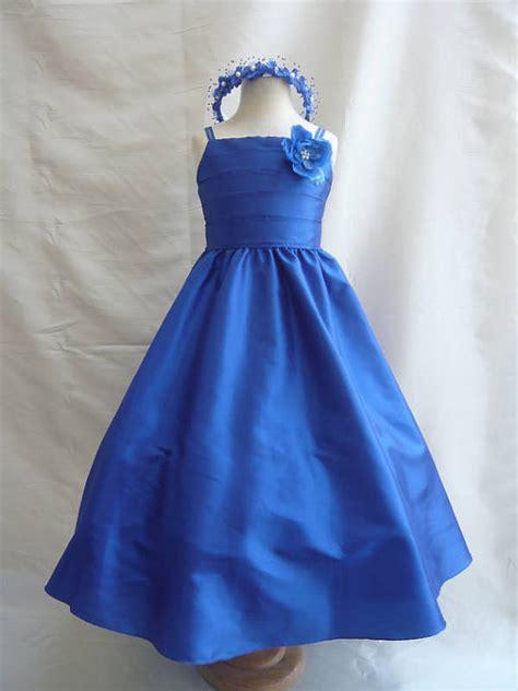 Od Dress Kid Princess Yellow flower dresses blue royal fd0sp7 wedding easter