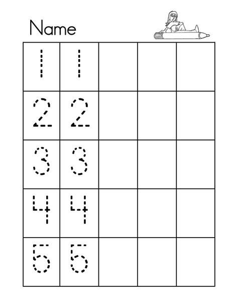 printable tracing numbers 1 5 numbers tracing 1 5