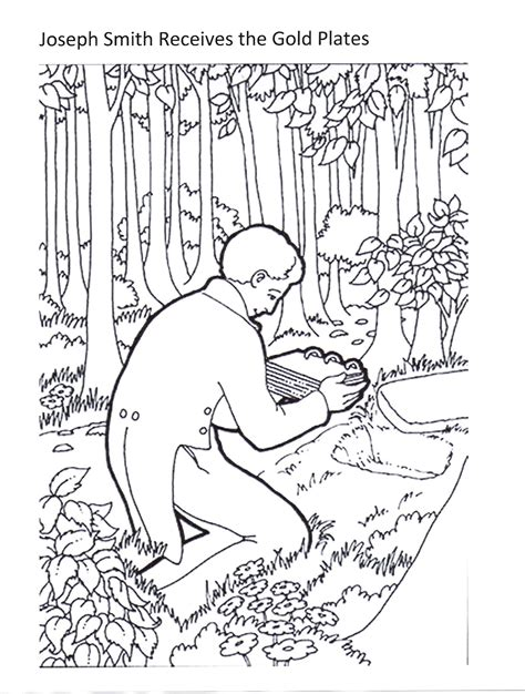 lds coloring pages joseph smith joseph smith receives the golden plates ctr pinterest