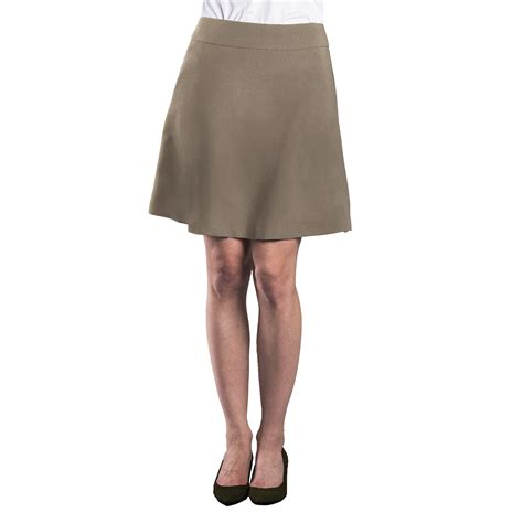 s flared skirt ultralux khaki executive apparel