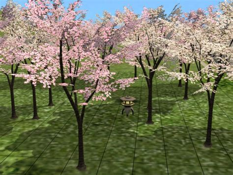 sims 4 cherry tree mod the sims blossom cherry blossom tree reupload more detailed version