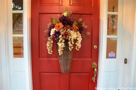 A Fall Door Arrangement You Can Make In 5 Minutes Or Less Front Door Hanging Decorations
