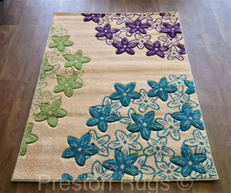 Small Purple Rug by Details About Rug Modern Floral Teal Blue Green Purple