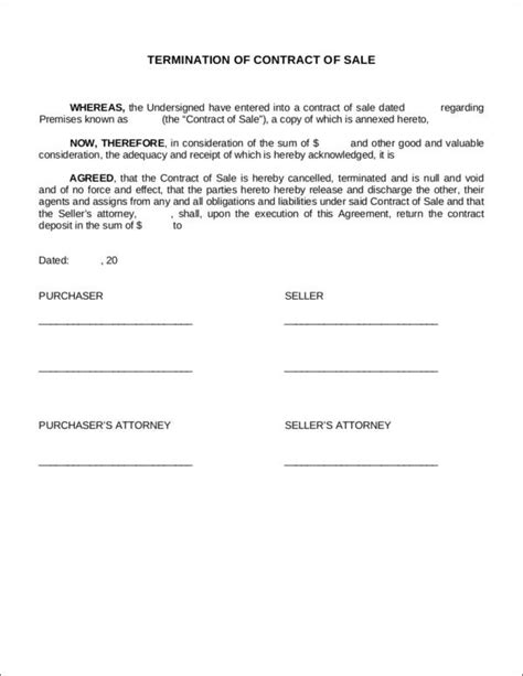 contract agreement sle sle contract termination agreement 28 images 881 best