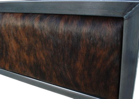 Cowhide Headboards by Modern Bed In Denver Colorado Cowhide Headboard Modern