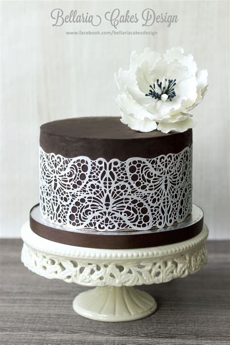 Chocolate Lace Decoration by 15 Best Ideas About Chocolate Lace Cake On Chocolate Decorations Chocolate And