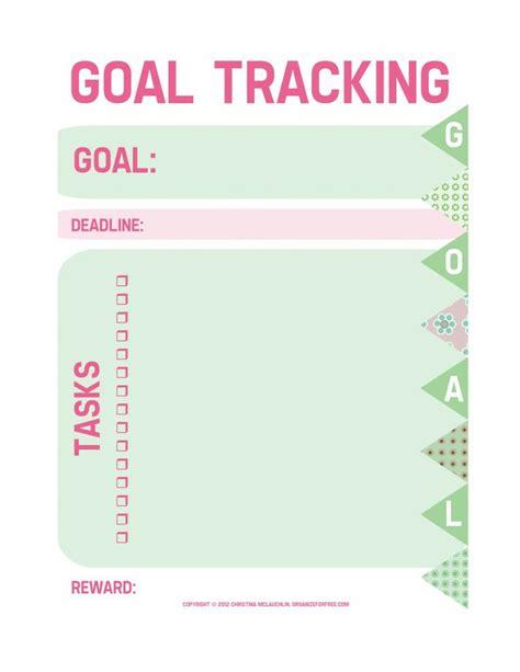 Free Printable Goal Sheets | free printable goal tracking worksheet