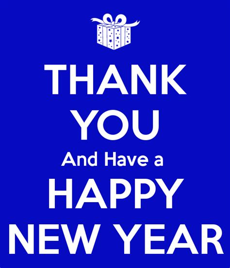 thank you and have a happy new year poster dominic