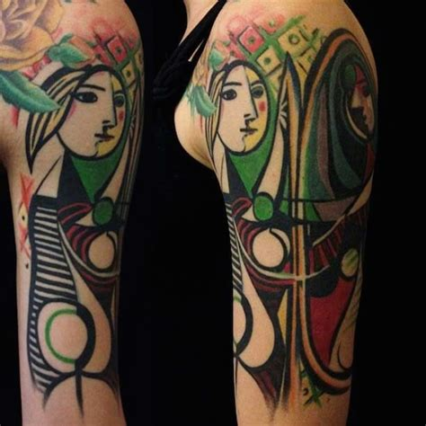 picasso tattoo artist awesome tattoos that are reproductions of artworks