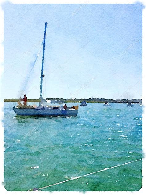 boat prices going up watercolor painting of a sailing boat going out to sea