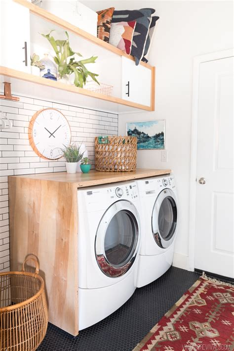 waschmaschine matte laundry room makeover reveal vintage revivals