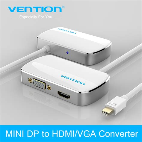 Nyk Mini Displayport To Vga Display Cable Con Dpnmvgf vention 2 in 1 mini dp displayport to hdmi vga adapter converter cable for apple macbook air pro
