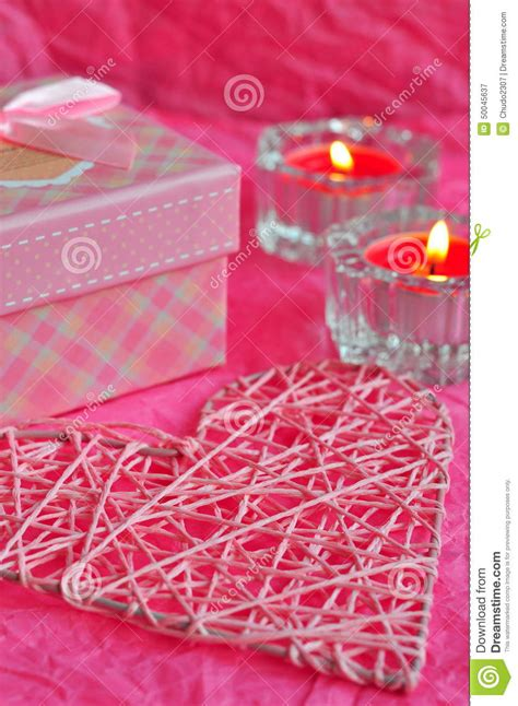 valentines day surprises valentines day card concept gift candles