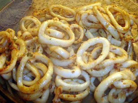 comment cuisiner calamar frais recette d anneaux de calamar gouteux 224 ma fa 231 on