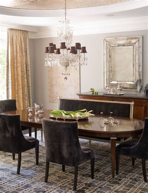 why not mix settee with chairs dining rooms
