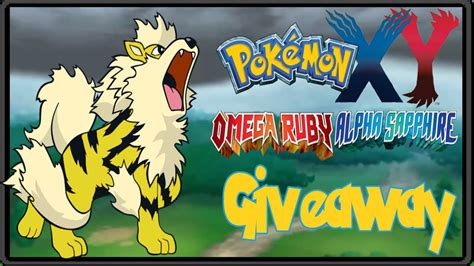 Pokemon Xy Giveaway - pokemon x y oras gts giveaway shiny arcanine closed youtube
