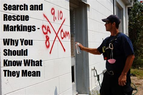 disaster spray paint x fema search and rescue markings why you should what