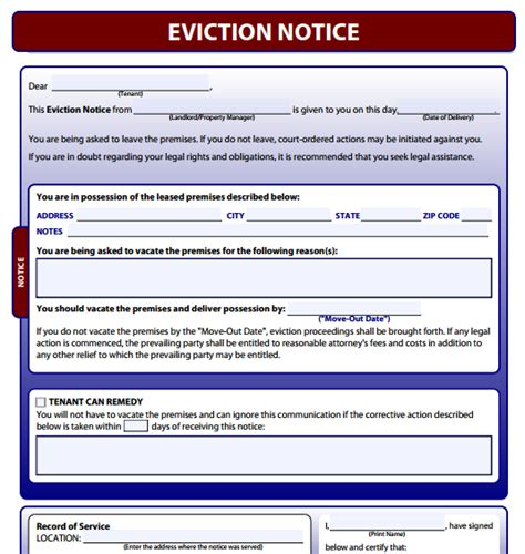 free eviction notice letter print search results