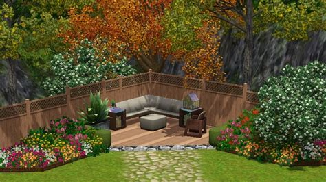 sims 3 backyard ideas the inspiration came from a picture i found on