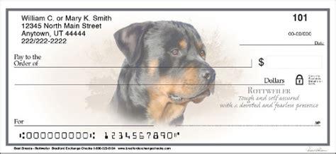 rottweiler personal checks rottweiler checks designerdogchecks