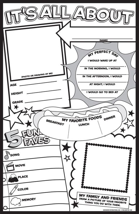 best 25 all about me poster ideas on pinterest homework
