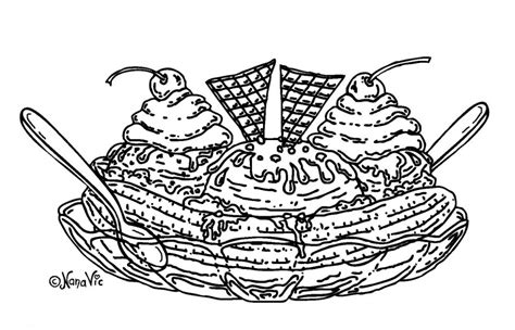 coloring page ice cream sundae ice cream sundae cartoon cliparts co
