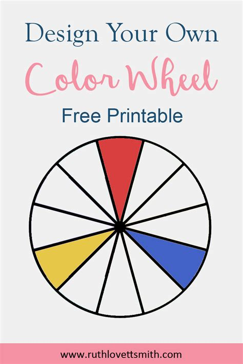 printable color wheel free printable color wheel learn color theory ruth
