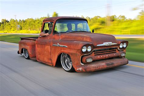this 1958 chevy apache is on the outside and